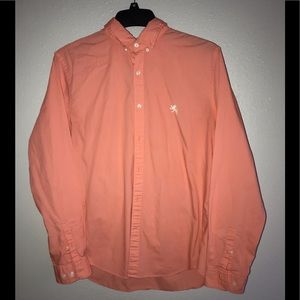 Men's express dress shirt coral/pink Lg.